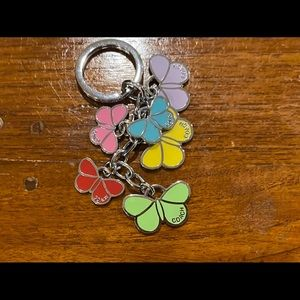 Coach Enameled Butterfly Mix Key Chain or Key Fob